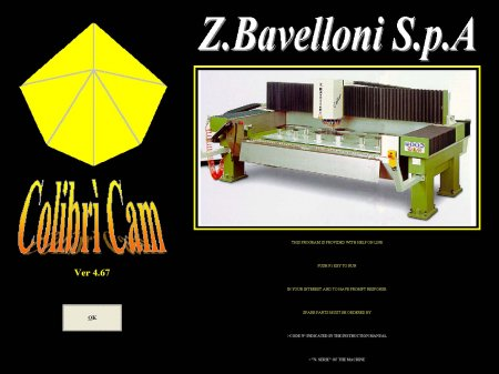Z.Bavelloni SPA EasyCAD - COLOBRI CAM  Software Sentinel LPT Dongle